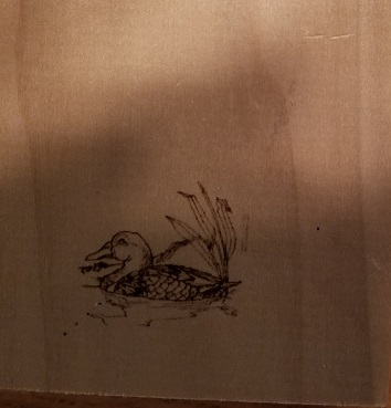 Woodland Duck Engraving