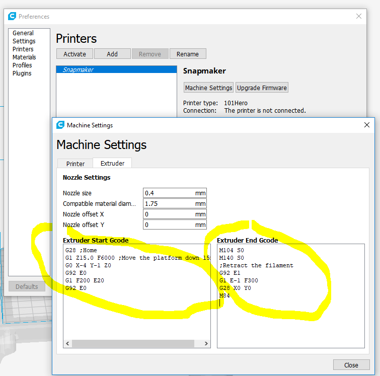 Wrong Temperature gcodes in CURA - Software and Firmware - Snapmaker